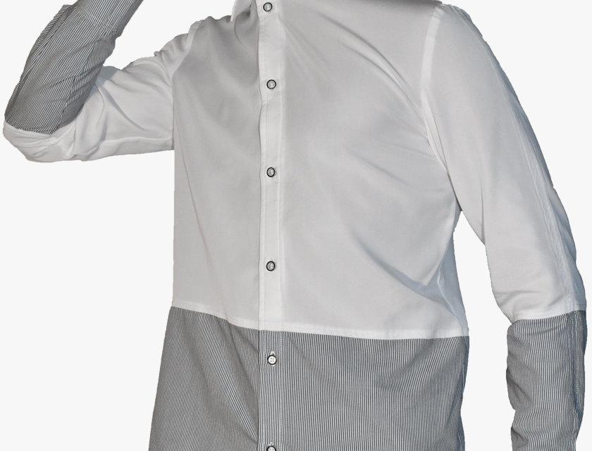 Half & Half Slim Shirt