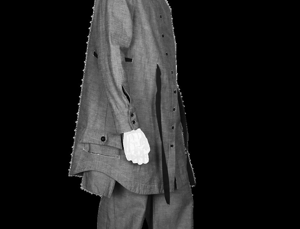 Through-Pocket Shirt (Grey)