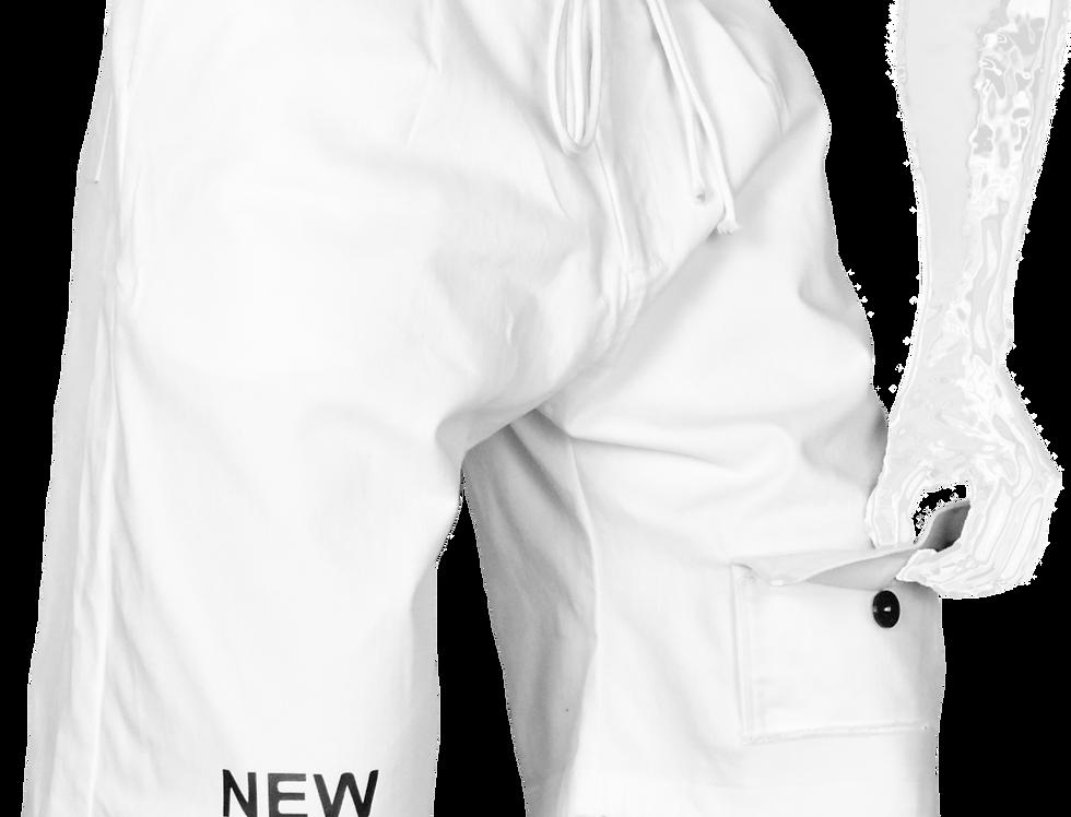 Through-Pocket Shorts (White)