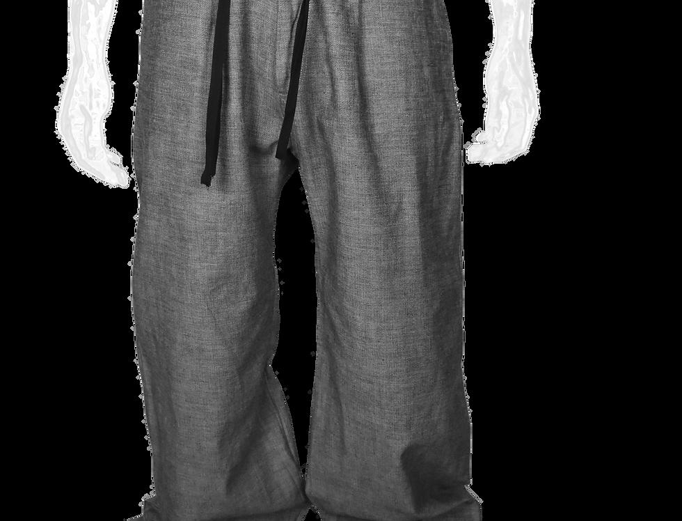 Pleated Wide-Leg Pants (Grey)
