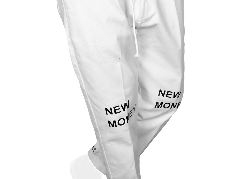 Pleated Double Pants (White)