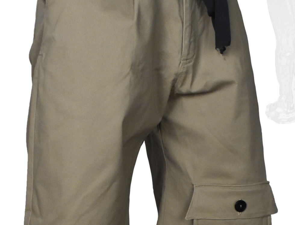 Through-Pocket Shorts (Brown)