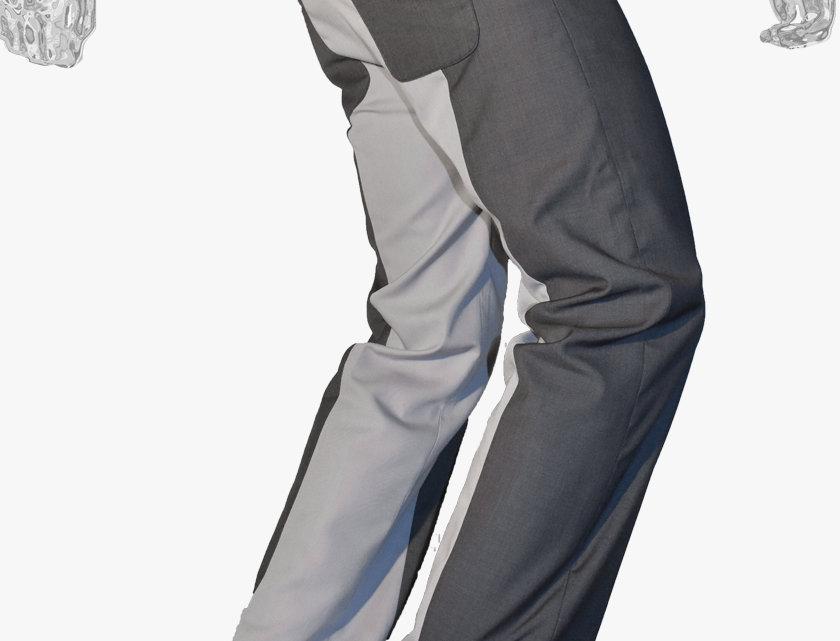 Panelled Slim-to-Straight Pants