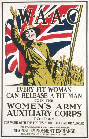Womens Army Auxilliary Corps advertisement WW1 - from the Imperial War Museum