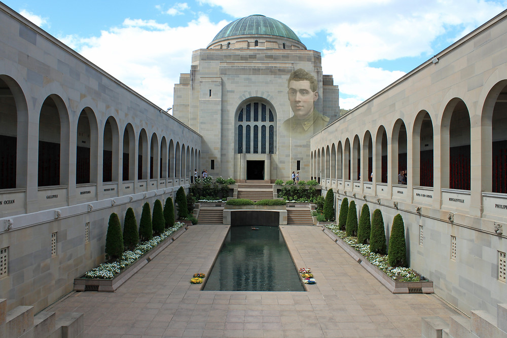 Picture of Australian War Memorial in Canberra. From Your Family Genealogist's personal collection.