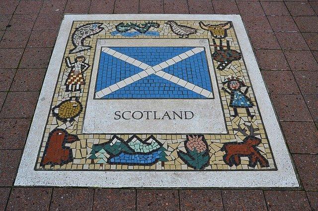 Scottish mosaic on footpath