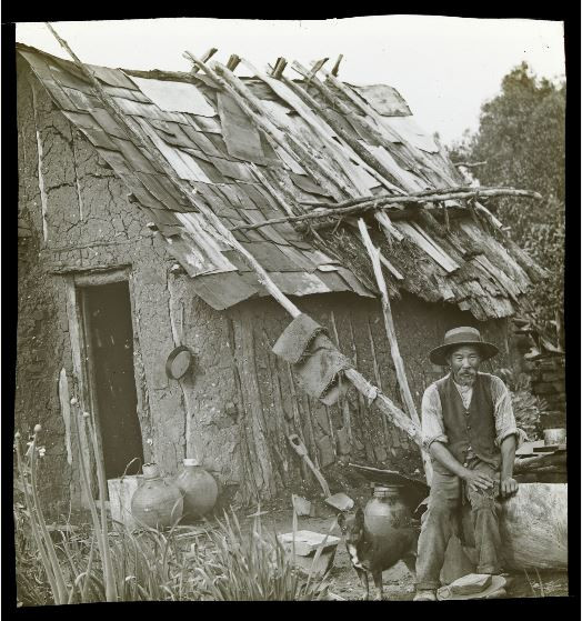 Picture of a Chinese Miner outside his hut circa 1900. Courtesy of www.slv.gov.au.