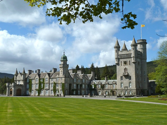 Picture of Balmoral Castle one of the Queen's residences for which the Royal Archives holds staff records - picture courtesy of Pixabay.