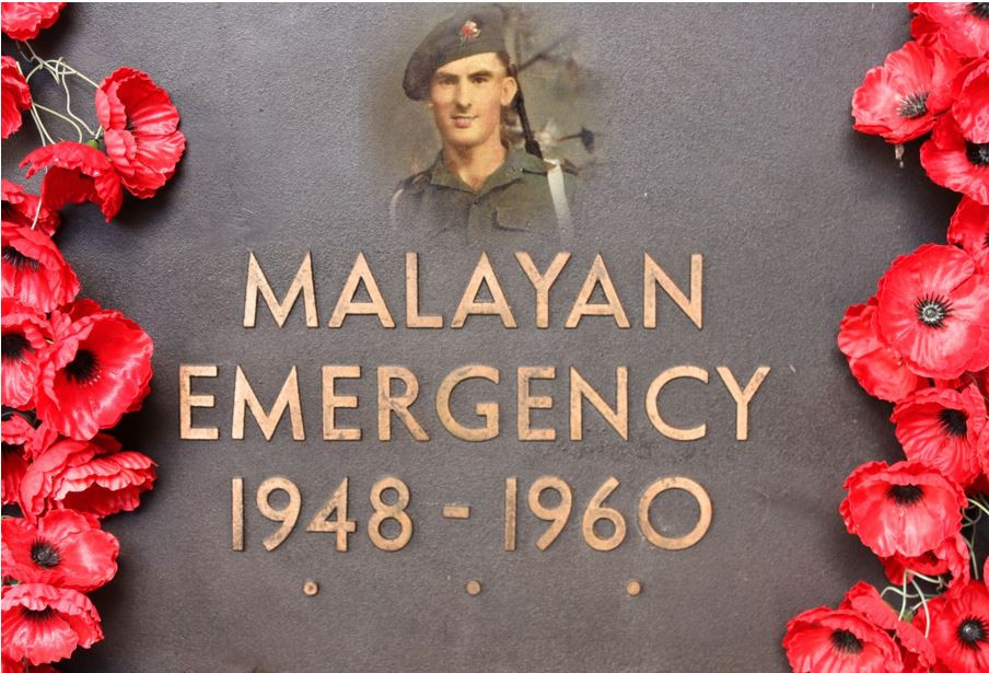 Malayan Emergency memorial with John Lynch ghosted Copyright Therese Lynch Your Family Genealogist