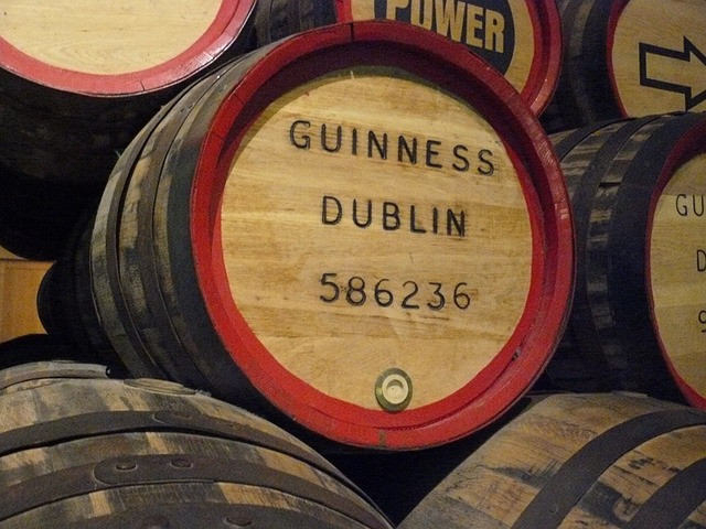 "Guinness barrels. Image by <a href=""https://pixabay.com/users/haymickey-831270/?utm_source=link-attribution&amp;utm_medium=referral&amp;utm_campaign=image&amp;utm_content=664452"">haymickey</a> from <a href=""https://pixabay.com/?utm_source=link-attribution&amp;utm_medium=referral&amp;utm_campaign=image&amp;utm_content=664452"">Pixabay</a>"