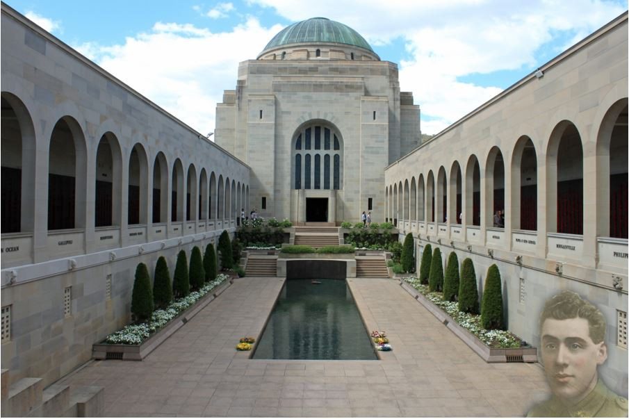 Australian War Memorial photo with Albert Barnes ghosted Copyright Therese Lynch Your Family Genealogist
