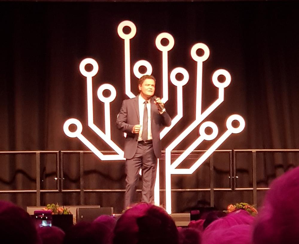 Donny Osmond, keynote speaker at RootsTech London, October 2019
