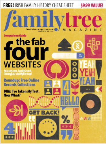 Front page of Family Tree Magazine March 2020 edition