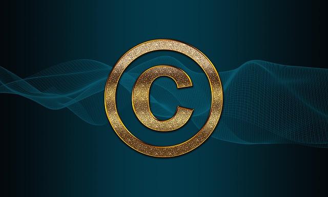 Copyright symbol courtesy of pixabay.com