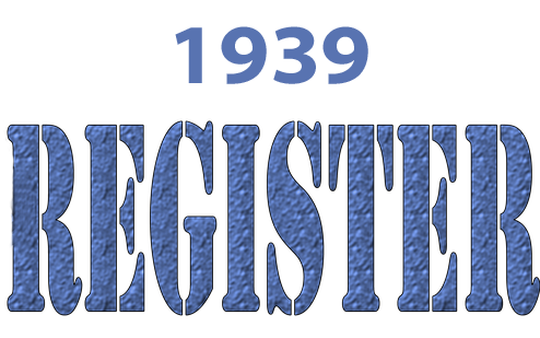 1939 Register label