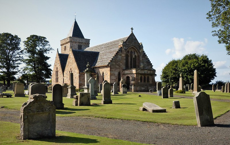 Picture of Scottish church and graveyard courtesy of www.flikr.com