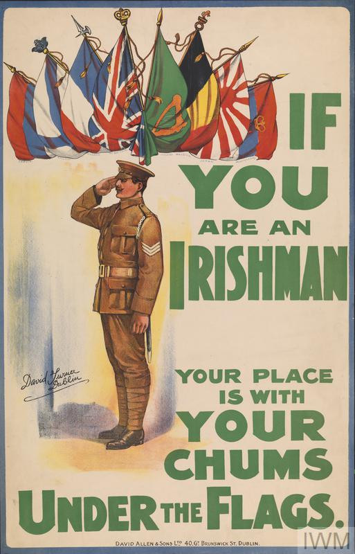 Picture of an Irish recruiting poster WW1. Courtesy of the Imperial War Museum