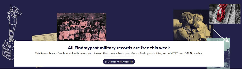 Link to Findmypast.com.au free military records till 12 November 2020. Image from www.findmypast.com.au