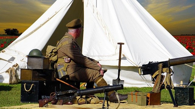 Picture of world war 1 camp - courtesy of pixabay.com