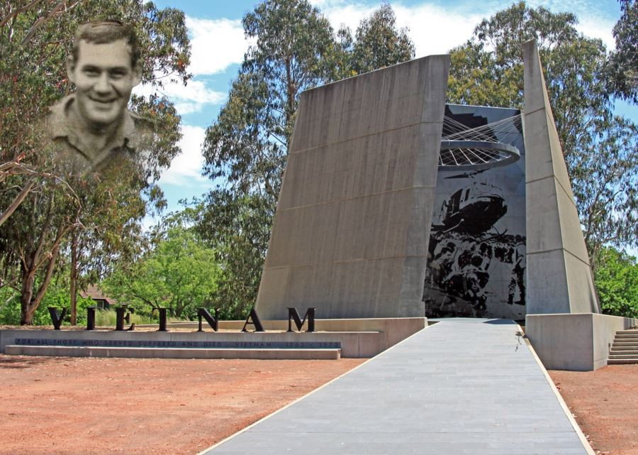 Vietnam War Memorial with Frank Barnes ghosted Copyright Therese Lynch Your Family Genealogist