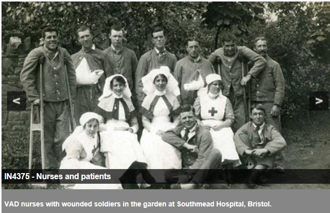 Picture of unidentified VADs at British Red Cross' website