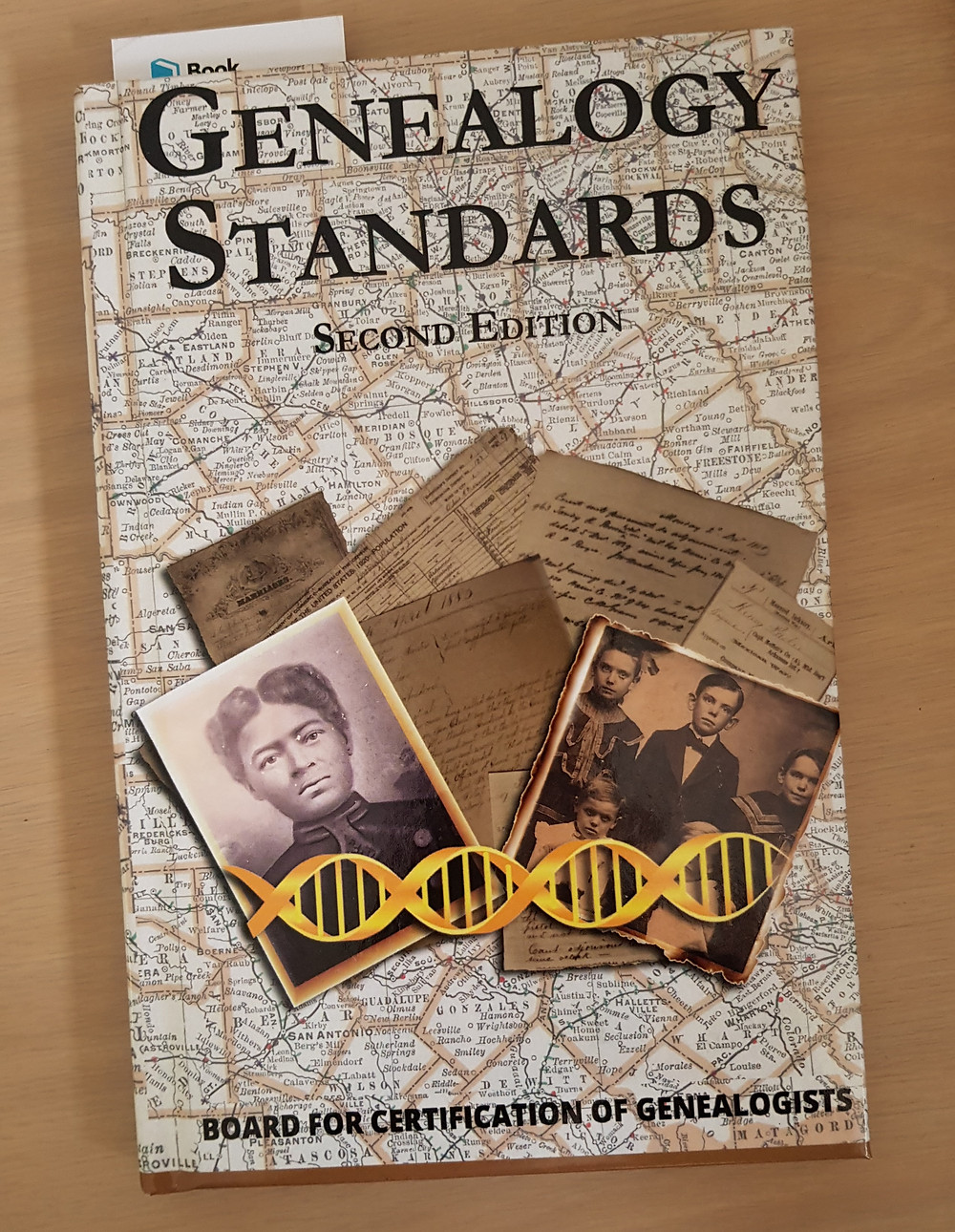 Picture of the book Genealogy Standards. From Your Family Genealogist's own collection.