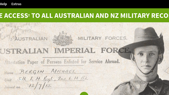 Free Ancestry access to Australian and NZ military records