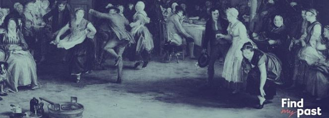 Picture of a Scottish party circa 1800s. Courtesy of Findmypast.com.au