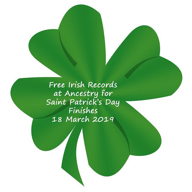 Ancestry - Free Irish records access for St Patrick's Day