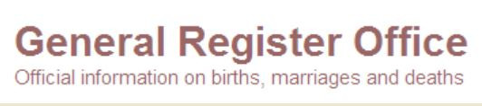 Geneal Register Office text logo for blog post by Your Family Genealogist about UK GRO pdf copies