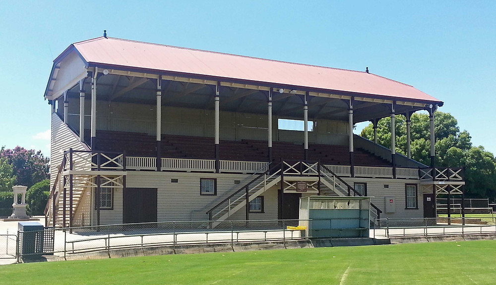 Picture of Grand Stand at Central Park in Stawell, Victoria. Copyright Therese Lynch 2108.