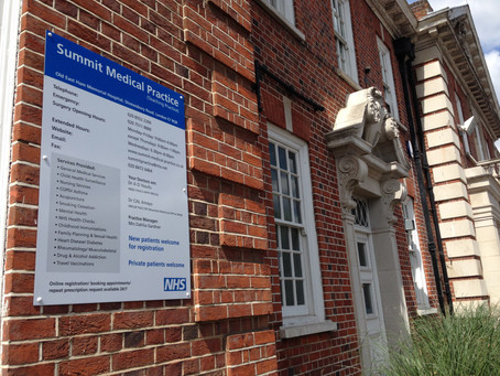 New Information Sign for Summit Medical Practice
