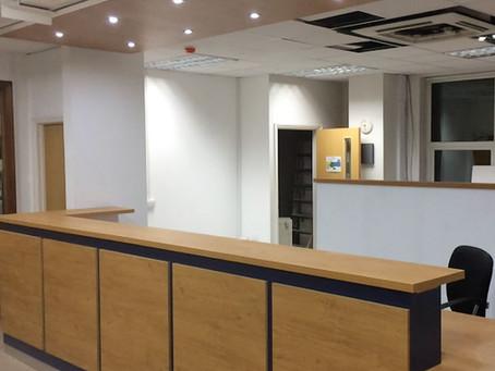 DDA Compliant Reception Desk for The Mission Practice