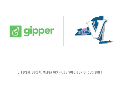 Gipper Signs Partnership to Become the Official Social Media Graphics Solution of Section V of NY