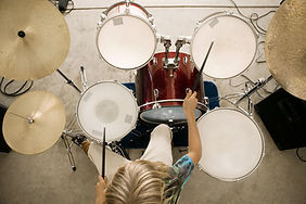 Top View of a Drummer