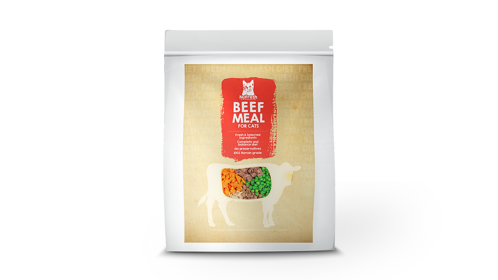 [Cooked] Fresh Diet for Cat - Beef Meal 120g