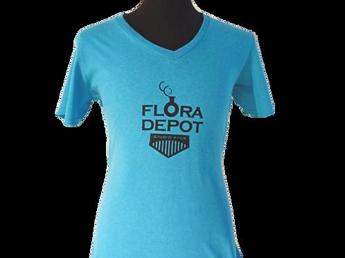 Women's V-Neck T-Shirt - Medium