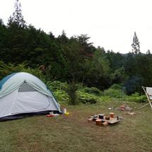 庭でCamp