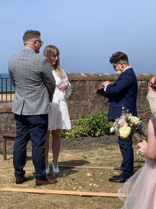 Local couple marry at HQ