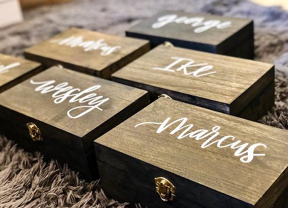 Custom Groomsmen Wood Boxes