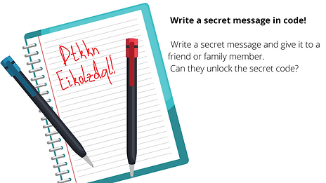Write a secret message in code! Write a