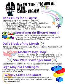 Monthly fun at the Clinton library!.png