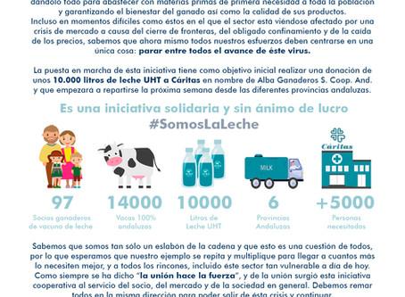 Alba Ganaderos sigue repartiendo leche a los colectivos más necesitados por la crisis sanitaria