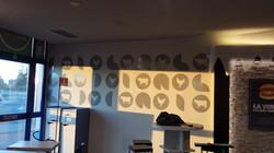 decorazione parete ristoburger