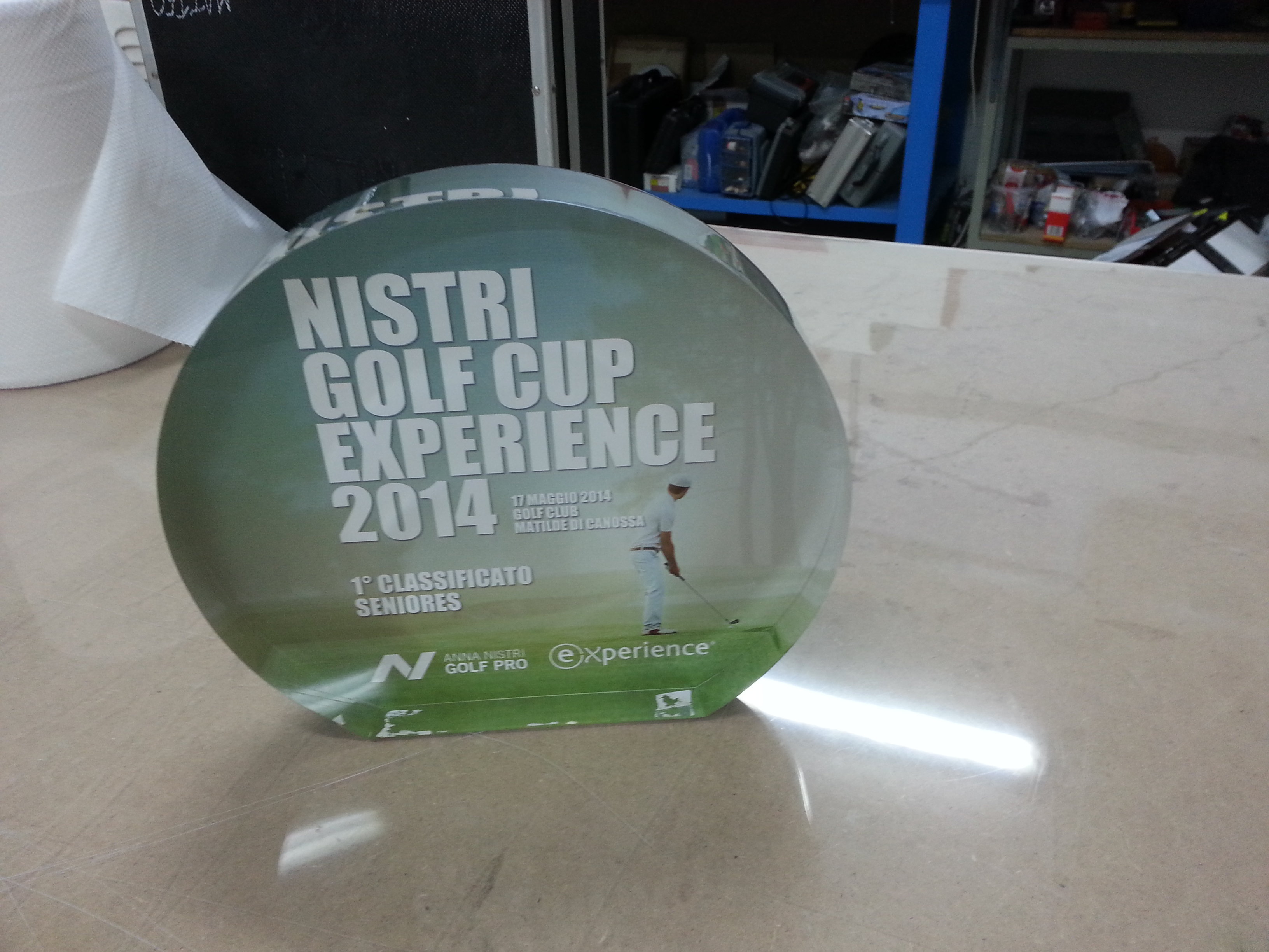 Premio golf in plexiglass