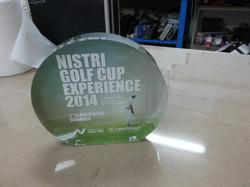 Premio golf in plexiglass