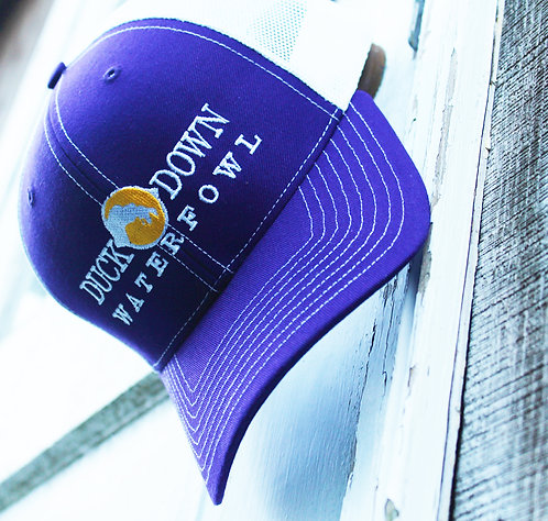 DDW Purple/White Structured Hat