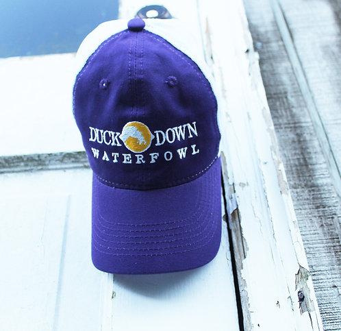DDW Purple/White Low Structure Hat