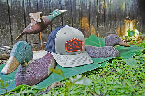 Sage Green Leather Patch Hat