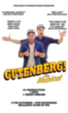 Giutenberg! The musical, Perth, What's on, Theatre, Comedy Clinton the musical
